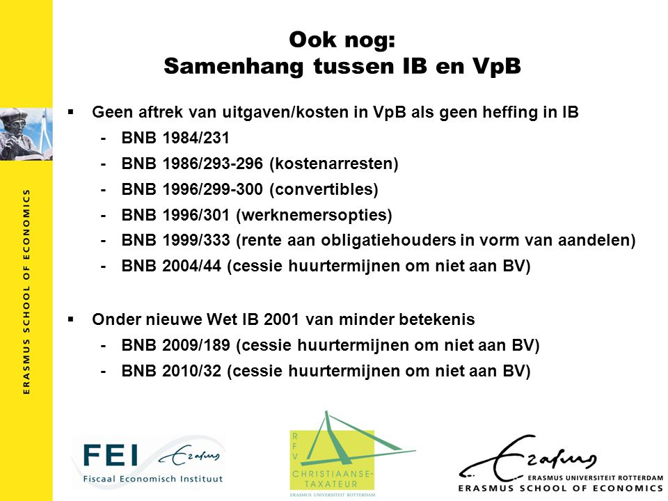 Ook nog: Samenhang tussen IB en VpB