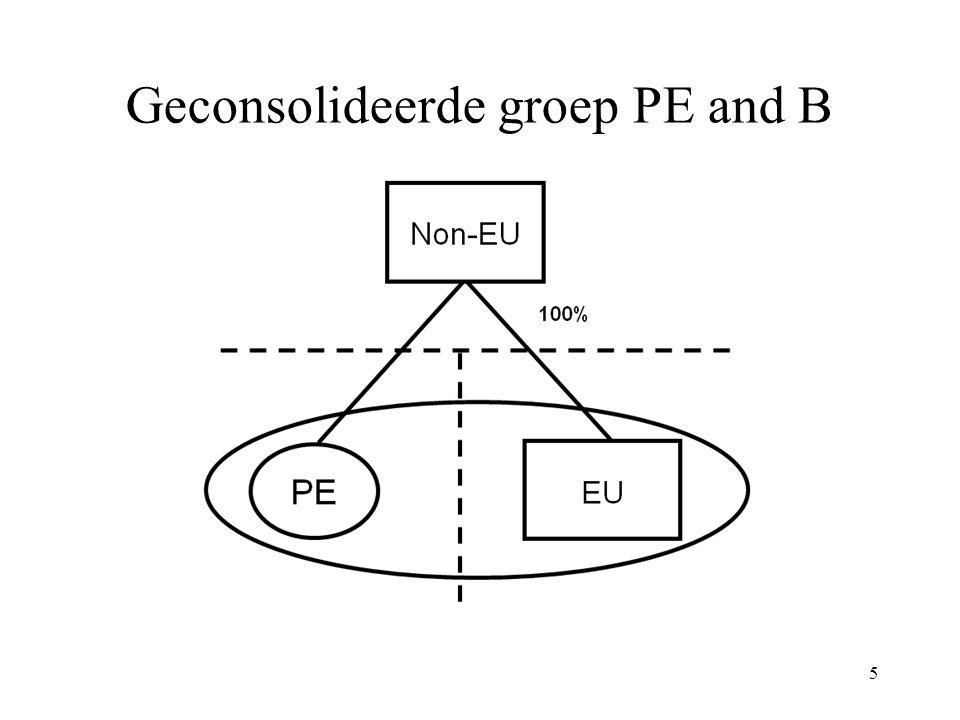 Geconsolideerde groep PE and B
