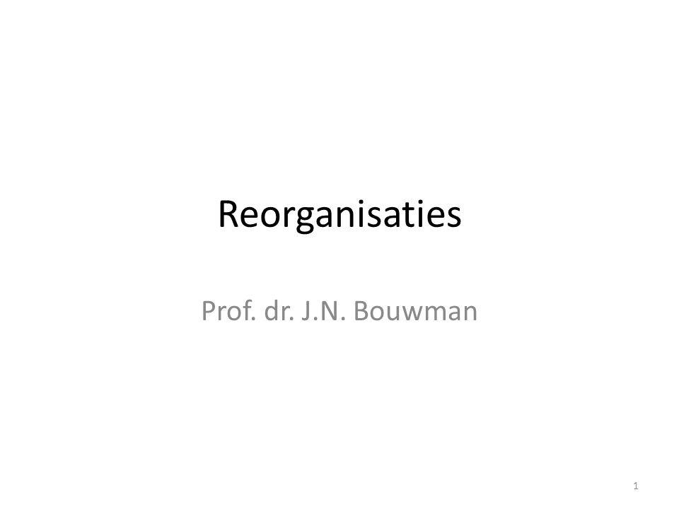 Reorganisaties Prof. dr. J.N. Bouwman