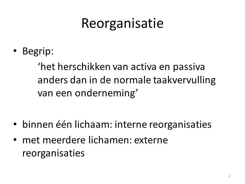 Reorganisatie Begrip:
