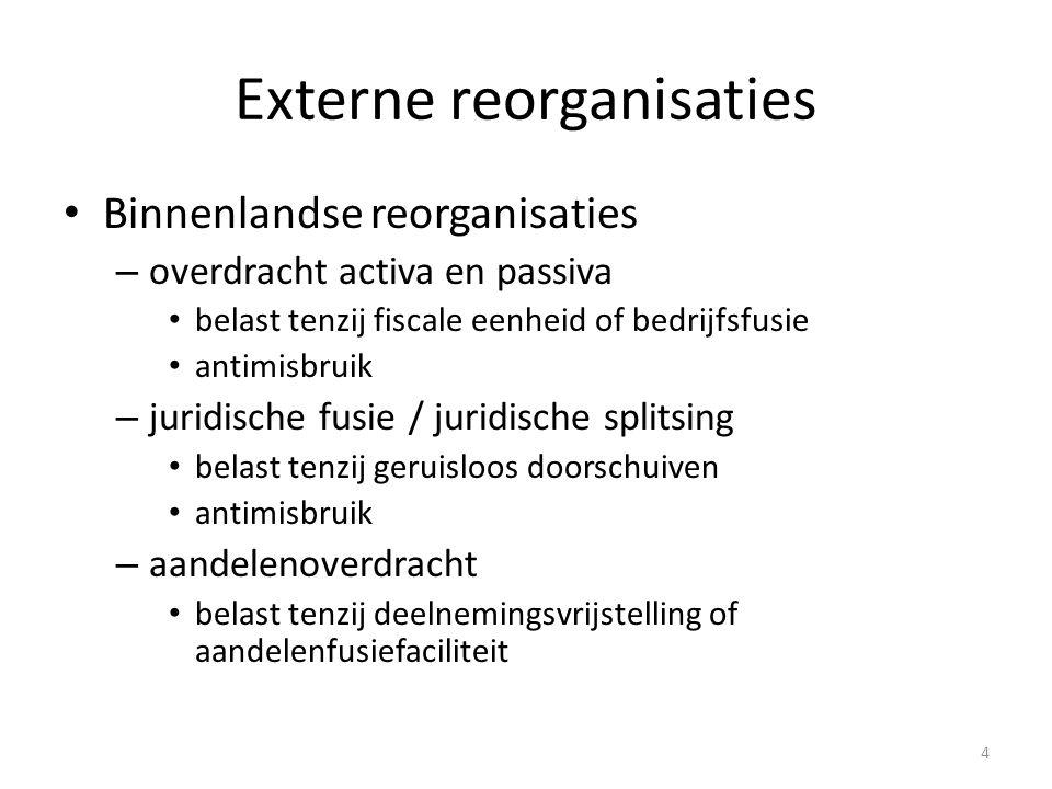 Externe reorganisaties