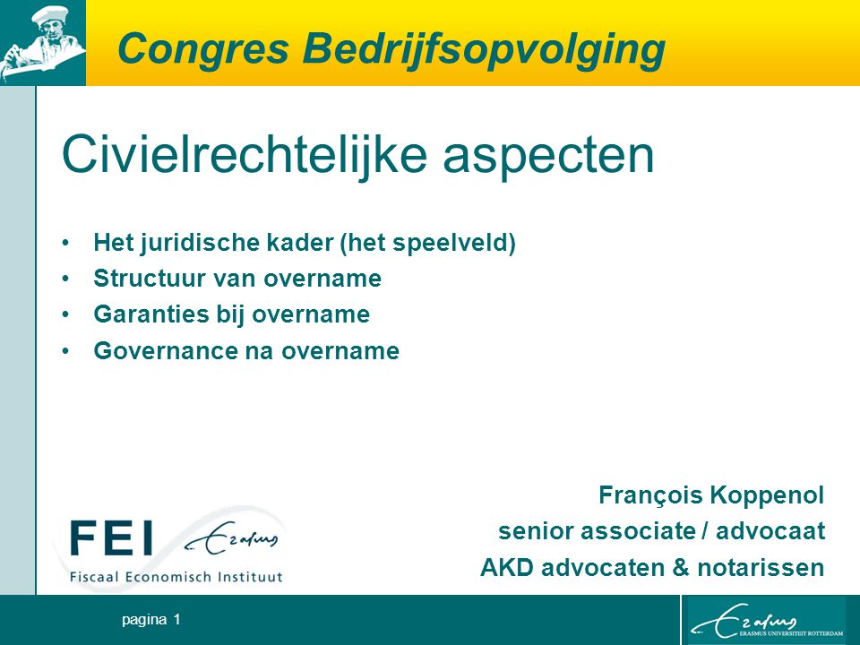 Congres Bedrijfsopvolging