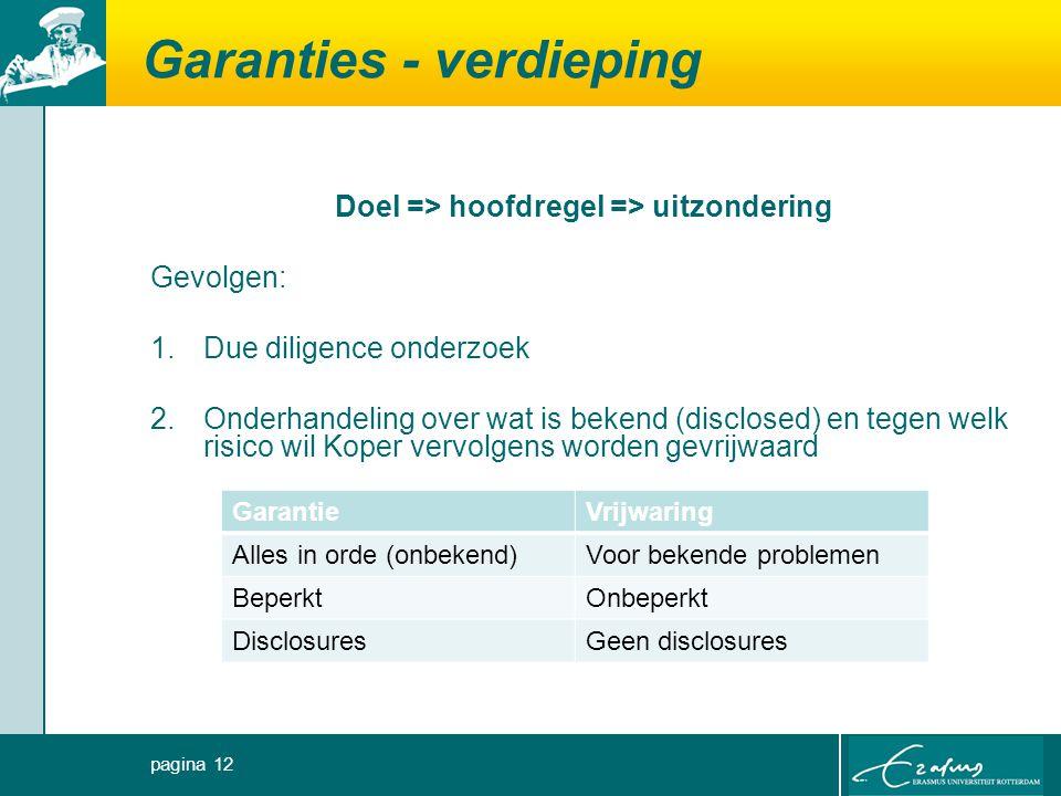 Garanties - verdieping