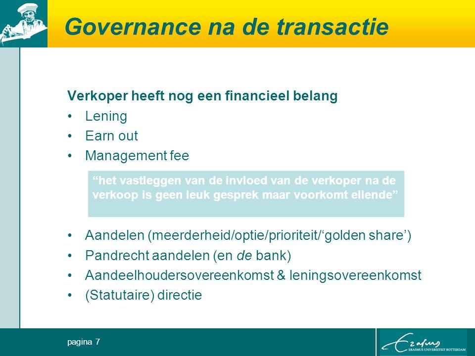Governance na de transactie