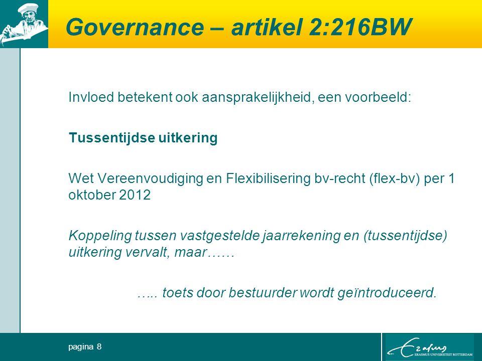 Governance – artikel 2:216BW