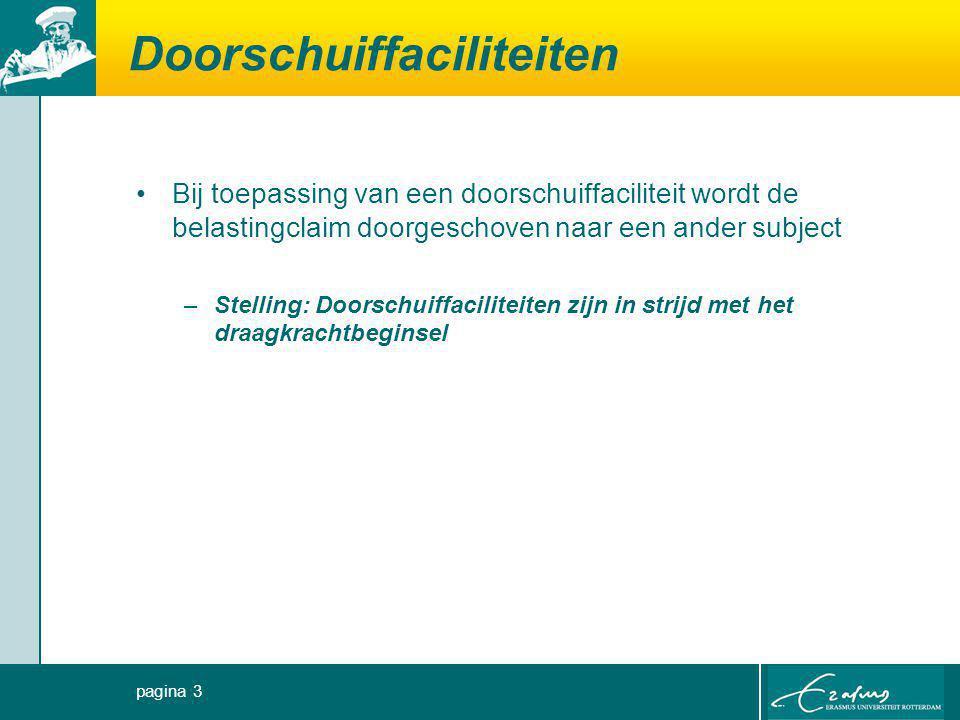 Doorschuiffaciliteiten