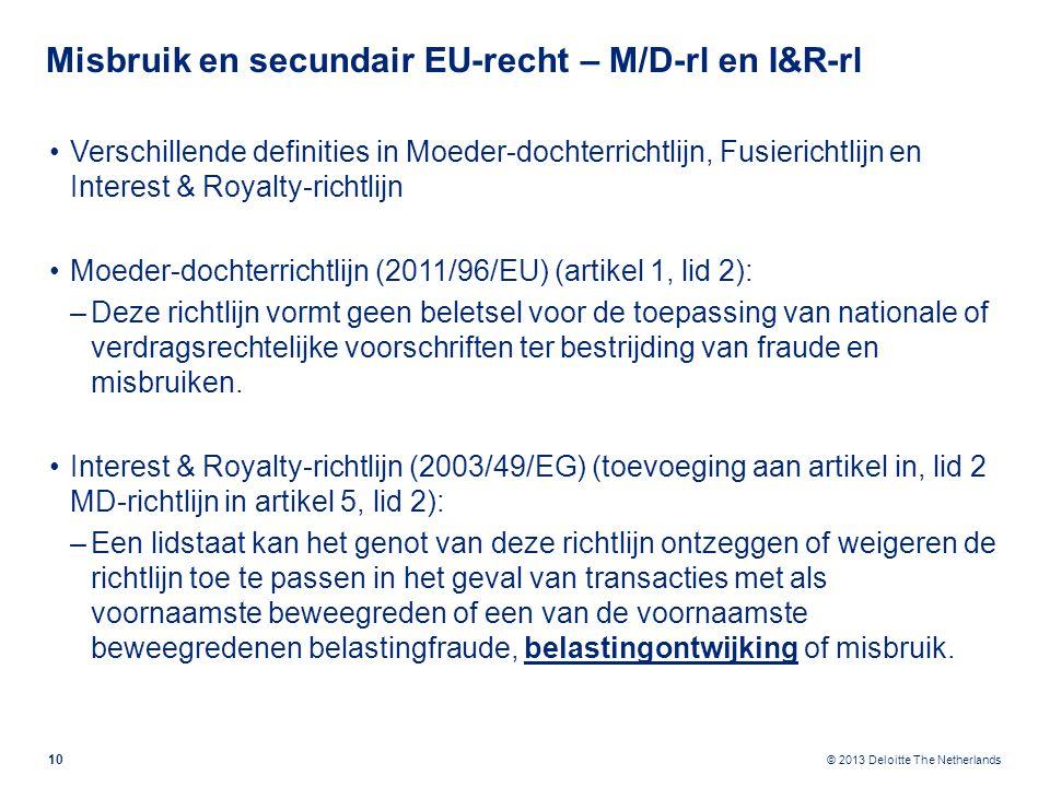 Misbruik en secundair EU-recht – Fusierichtlijn