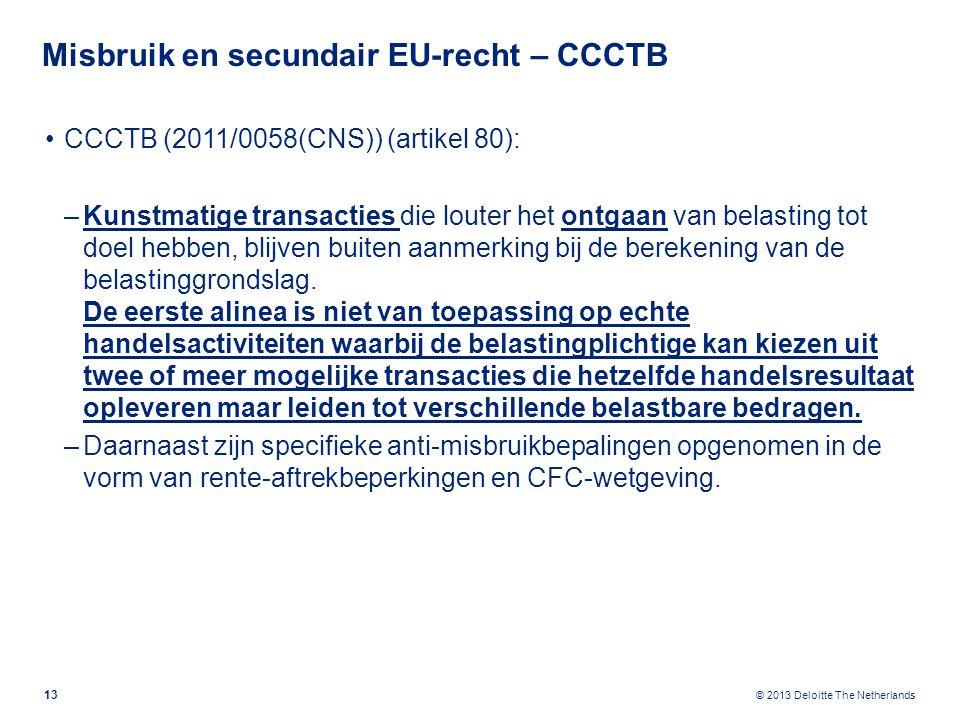 Misbruik en secundair EU-recht – FTT