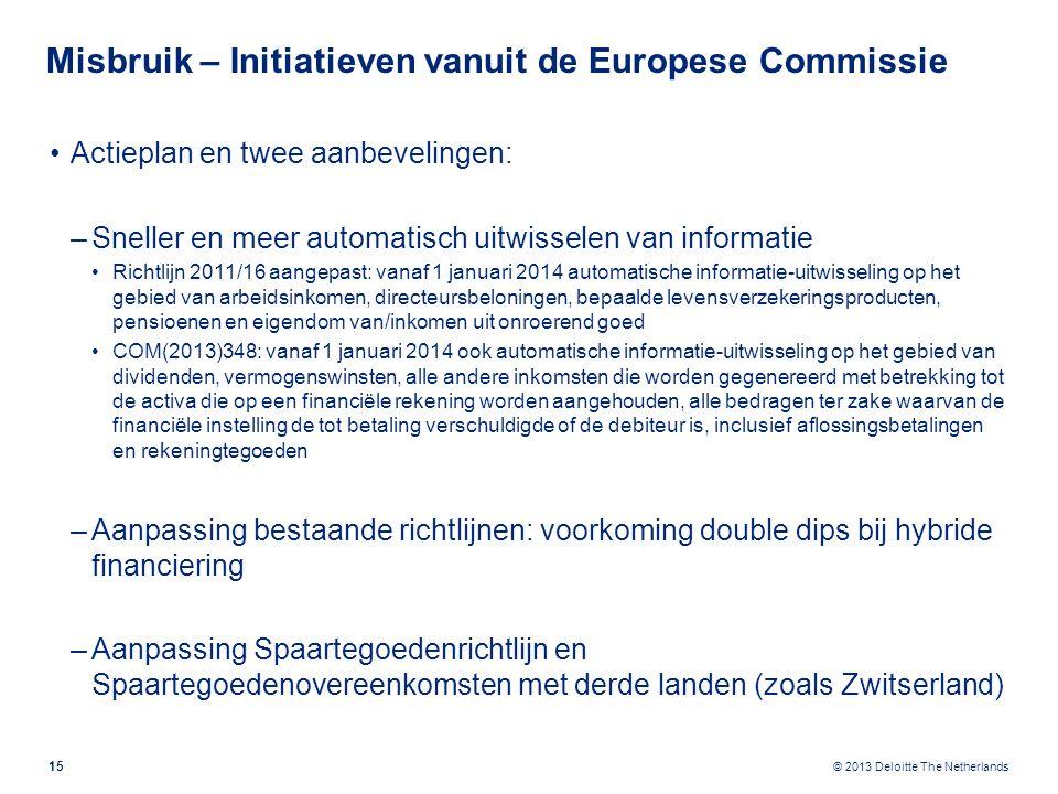 Misbruik – Initiatieven vanuit de Europese Commissie (2)