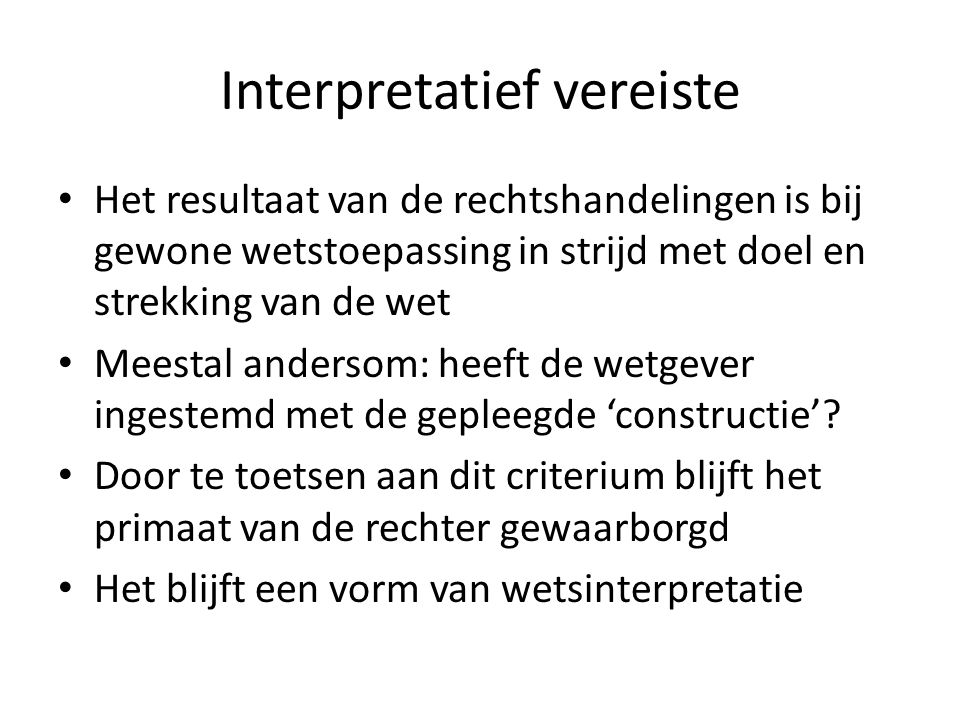 Interpretatief vereiste