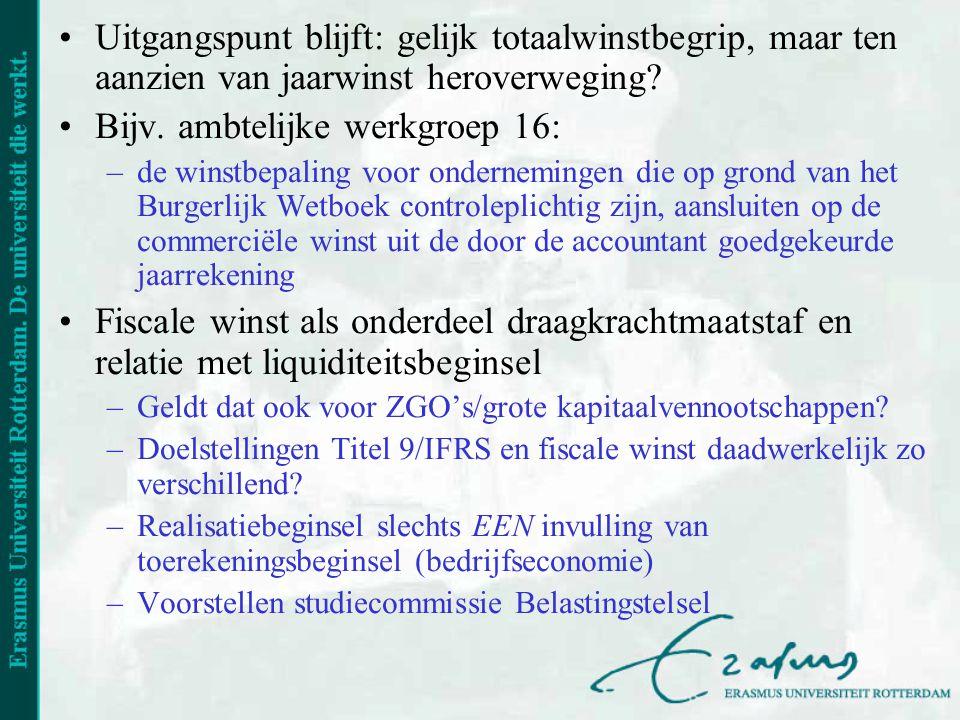 Bijv. ambtelijke werkgroep 16: