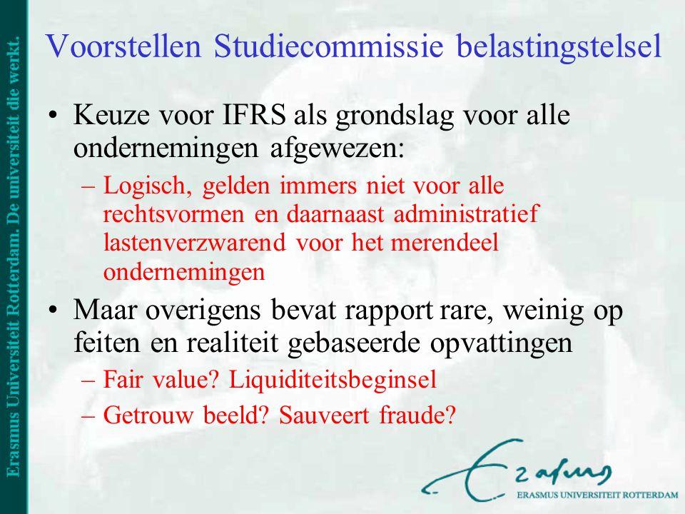 Voorstellen Studiecommissie belastingstelsel