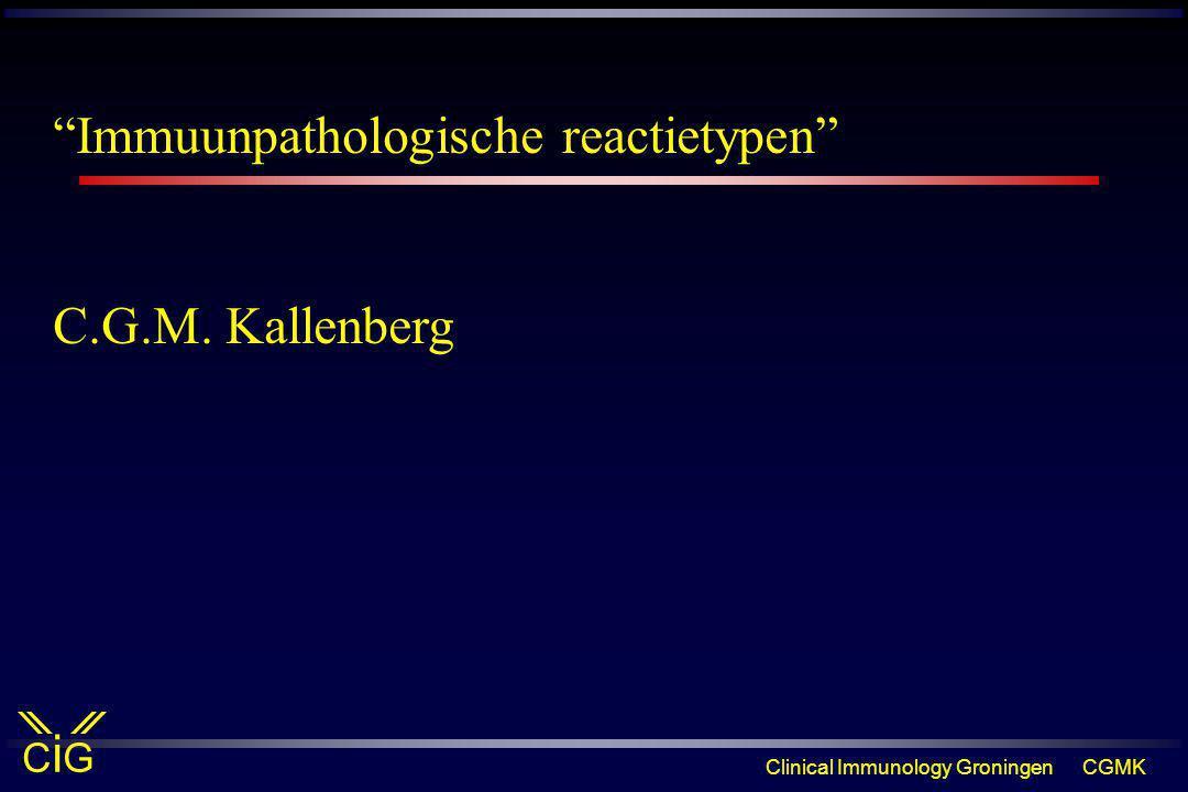 Immuunpathologische reactietypen