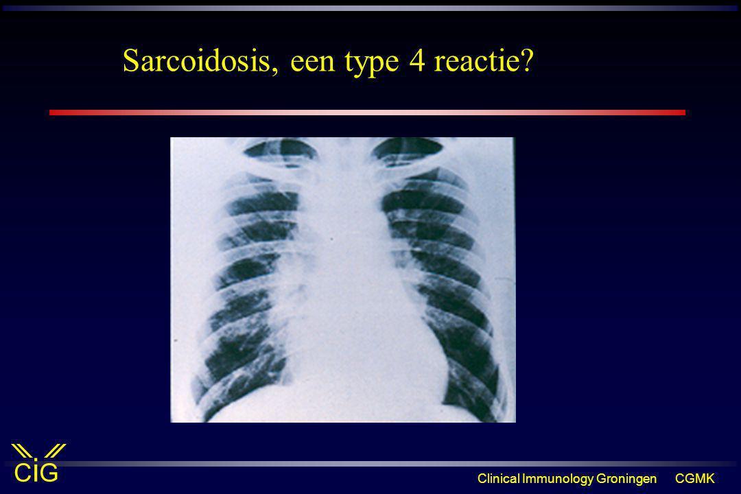 Sarcoidosis, een type 4 reactie