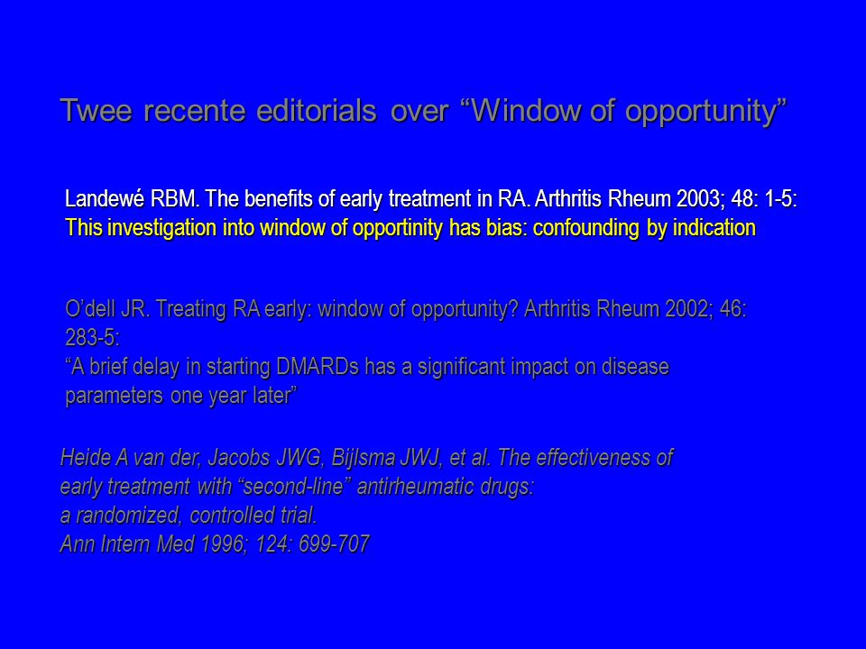 Twee recente editorials over Window of opportunity