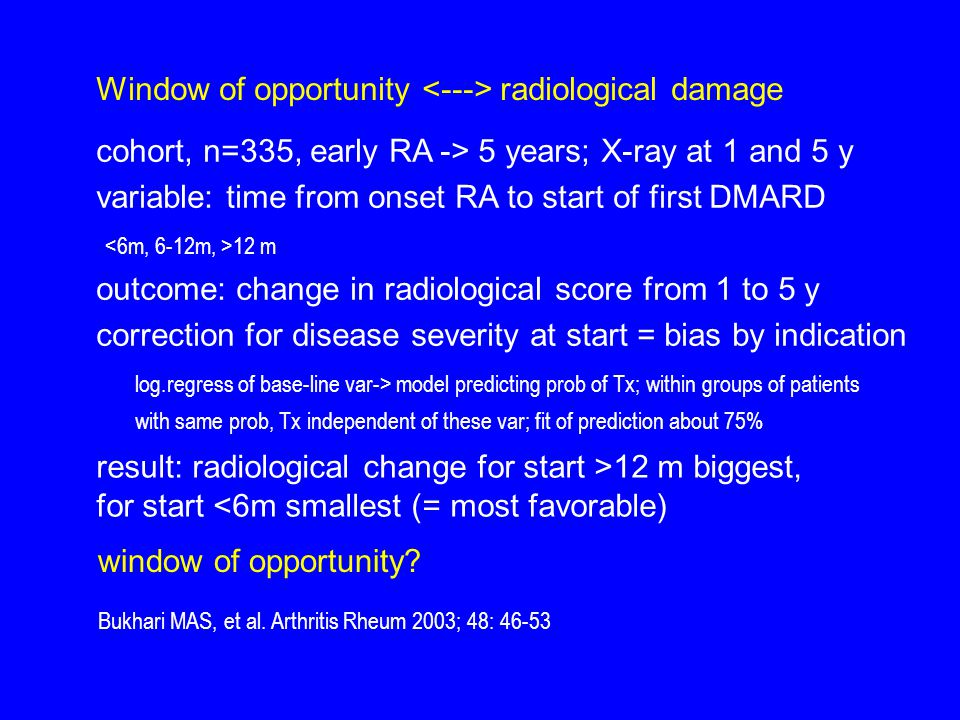 Window of opportunity <---> radiological damage