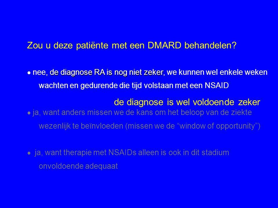 Zou u deze patiënte met een DMARD behandelen
