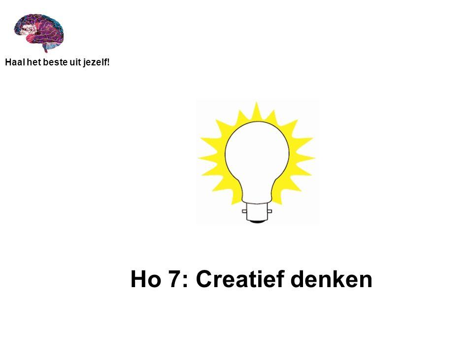 Ho 7: Creatief denken
