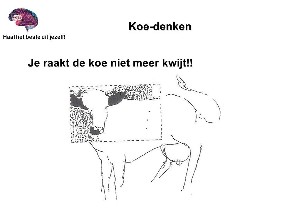 Koe-denken Je raakt de koe niet meer kwijt!!