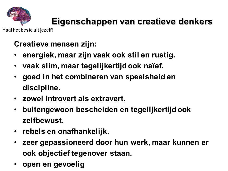 Eigenschappen van creatieve denkers