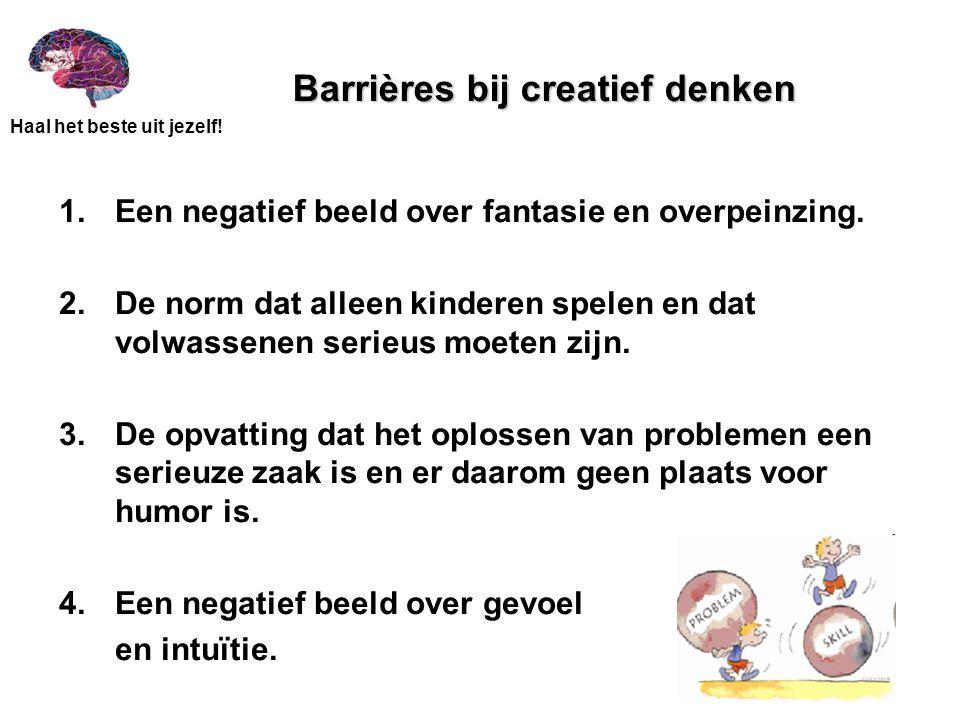 Barrières bij creatief denken