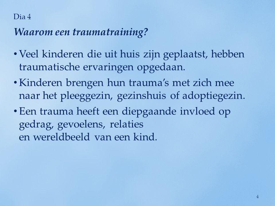 Waarom een traumatraining