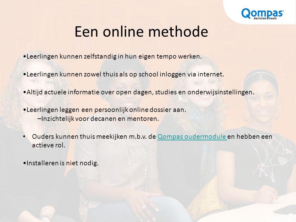 Een online methode Leerlingen kunnen zelfstandig in hun eigen tempo werken. Leerlingen kunnen zowel thuis als op school inloggen via internet.