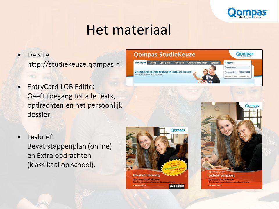 Het materiaal De site http://studiekeuze.qompas.nl