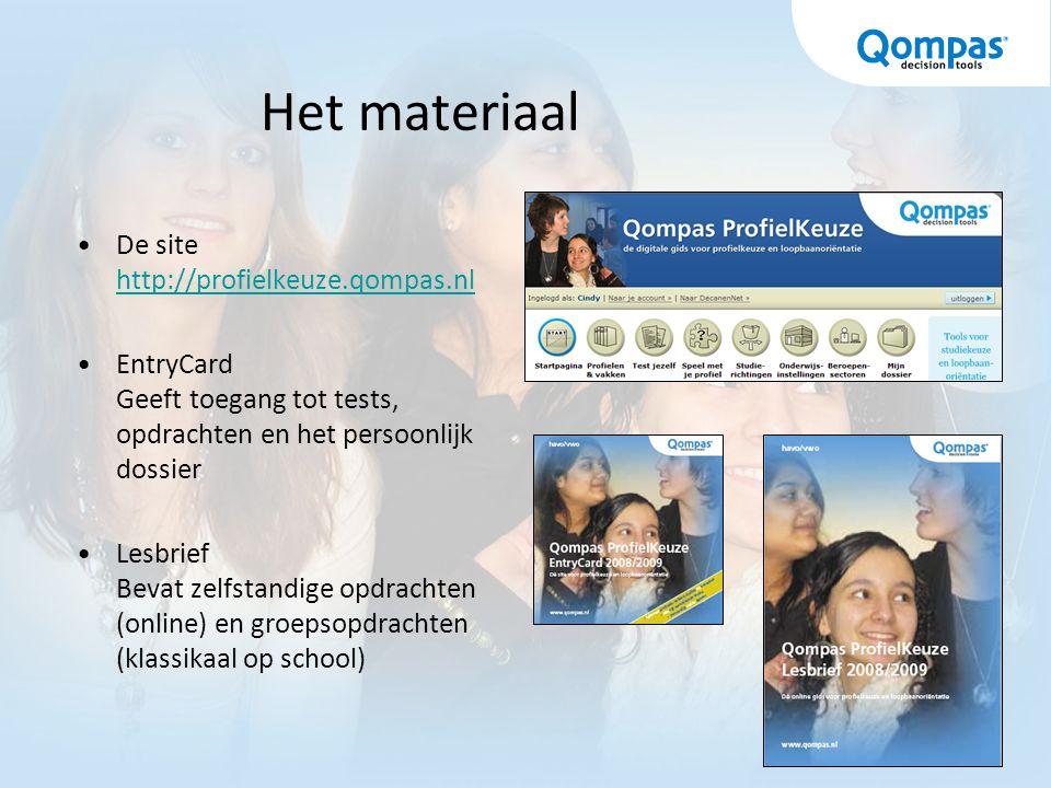 Het materiaal De site http://profielkeuze.qompas.nl