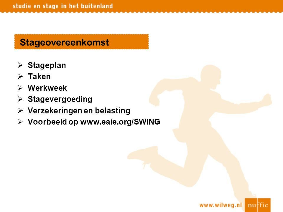 Stageovereenkomst Stageplan Taken Werkweek Stagevergoeding