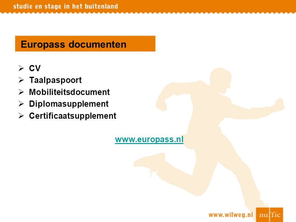 Europass documenten CV Taalpaspoort Mobiliteitsdocument