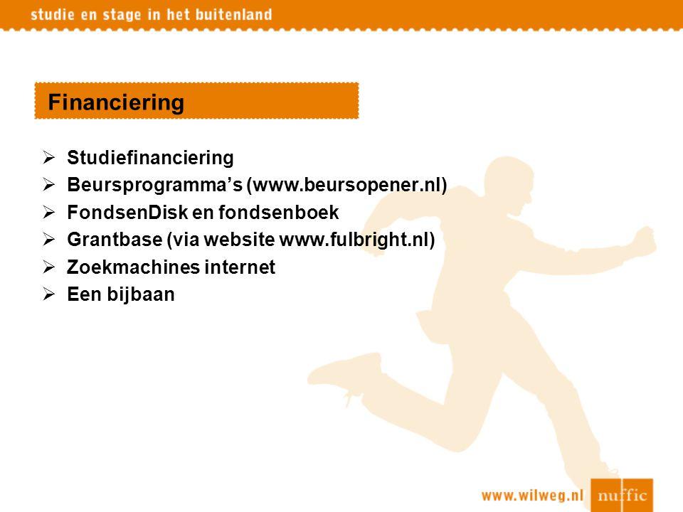 Financiering Studiefinanciering Beursprogramma's (www.beursopener.nl)