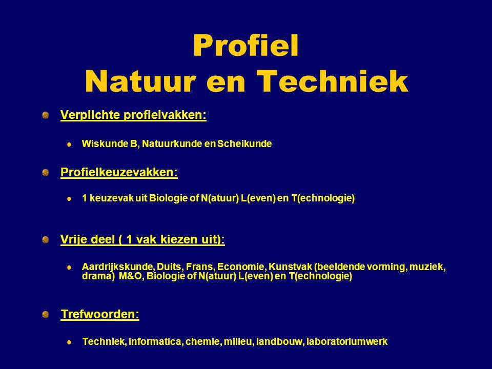 Profiel Natuur en Techniek