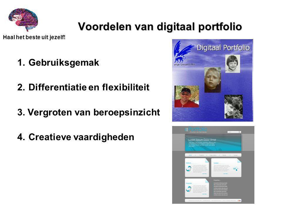 Voordelen van digitaal portfolio