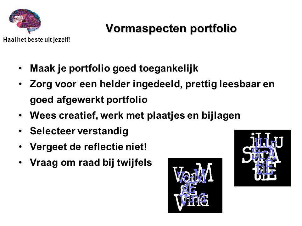 Vormaspecten portfolio
