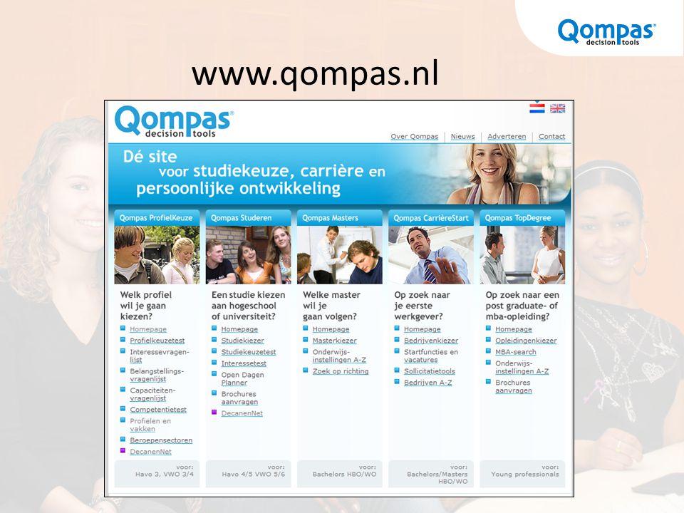 www.qompas.nl Qompas Studeren wijzigen in Qompas StudieKeuze