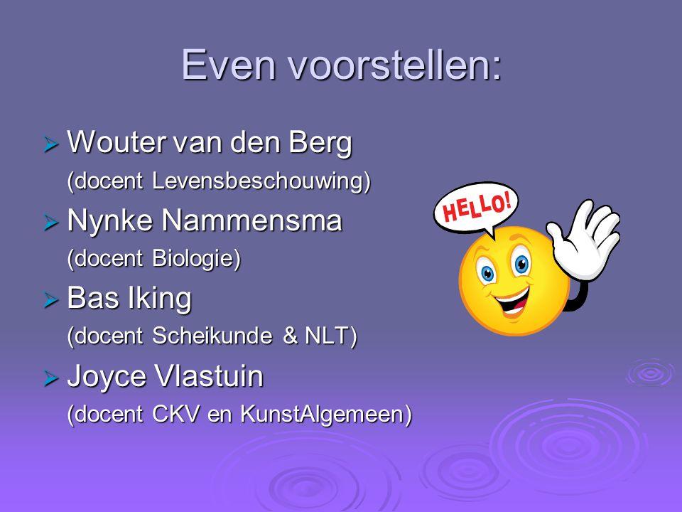 Even voorstellen: Wouter van den Berg Nynke Nammensma Bas Iking