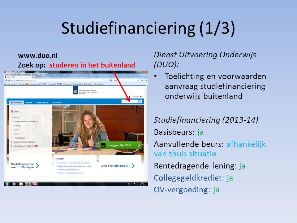 Studiefinanciering (1/3)