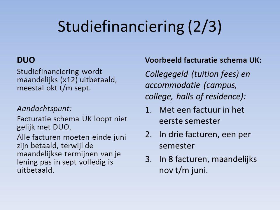 Studiefinanciering (2/3)