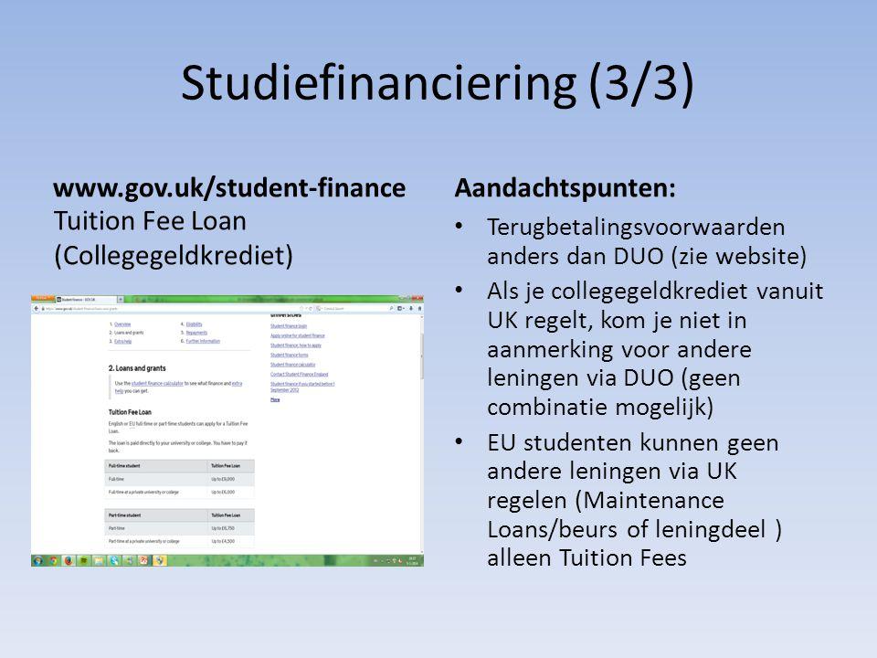 Studiefinanciering (3/3)