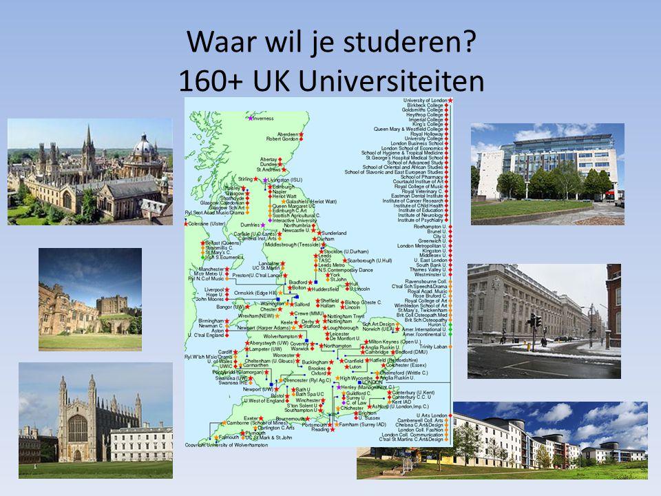 Waar wil je studeren 160+ UK Universiteiten