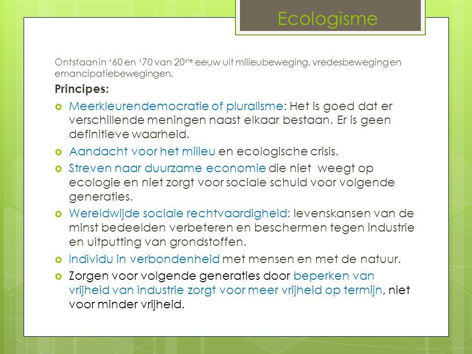 Ecologisme Principes: