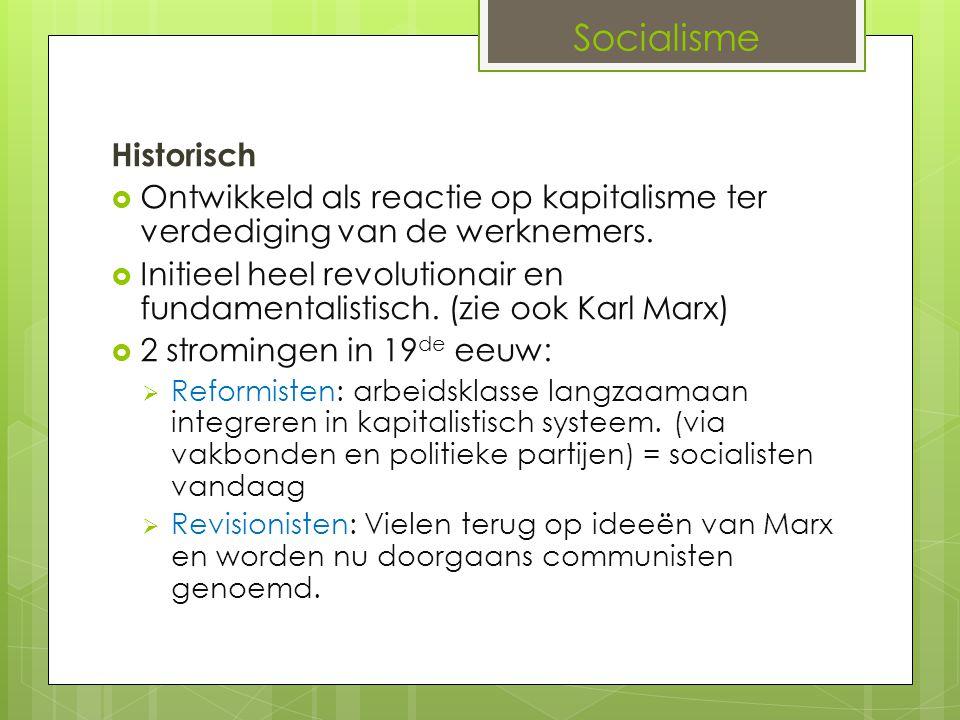 Socialisme Historisch