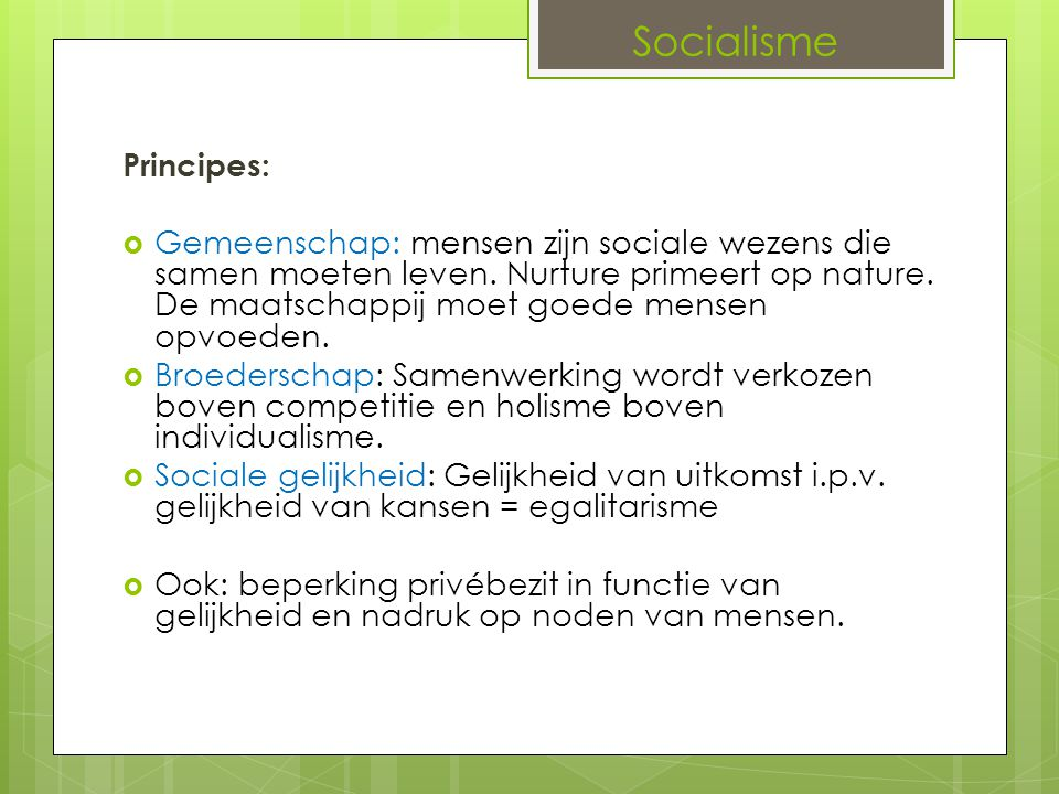 Socialisme Principes: