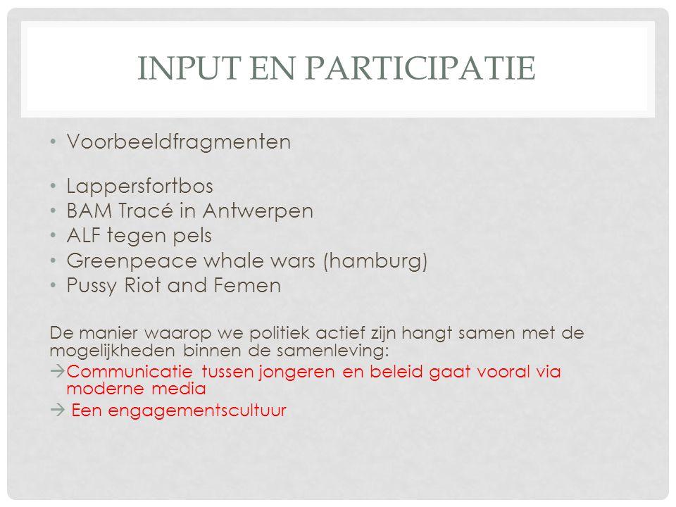 Input en participatie Voorbeeldfragmenten Lappersfortbos