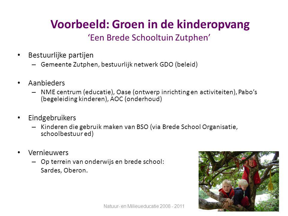 Voorbeeld: Groen in de kinderopvang 'Een Brede Schooltuin Zutphen'