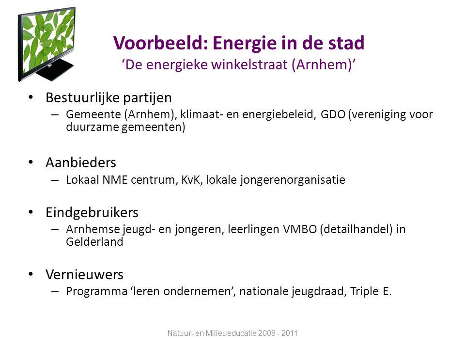 Voorbeeld: Energie in de stad 'De energieke winkelstraat (Arnhem)'