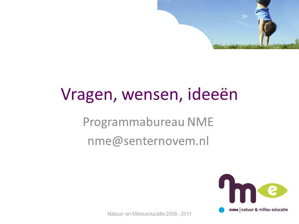 Programmabureau NME nme@senternovem.nl