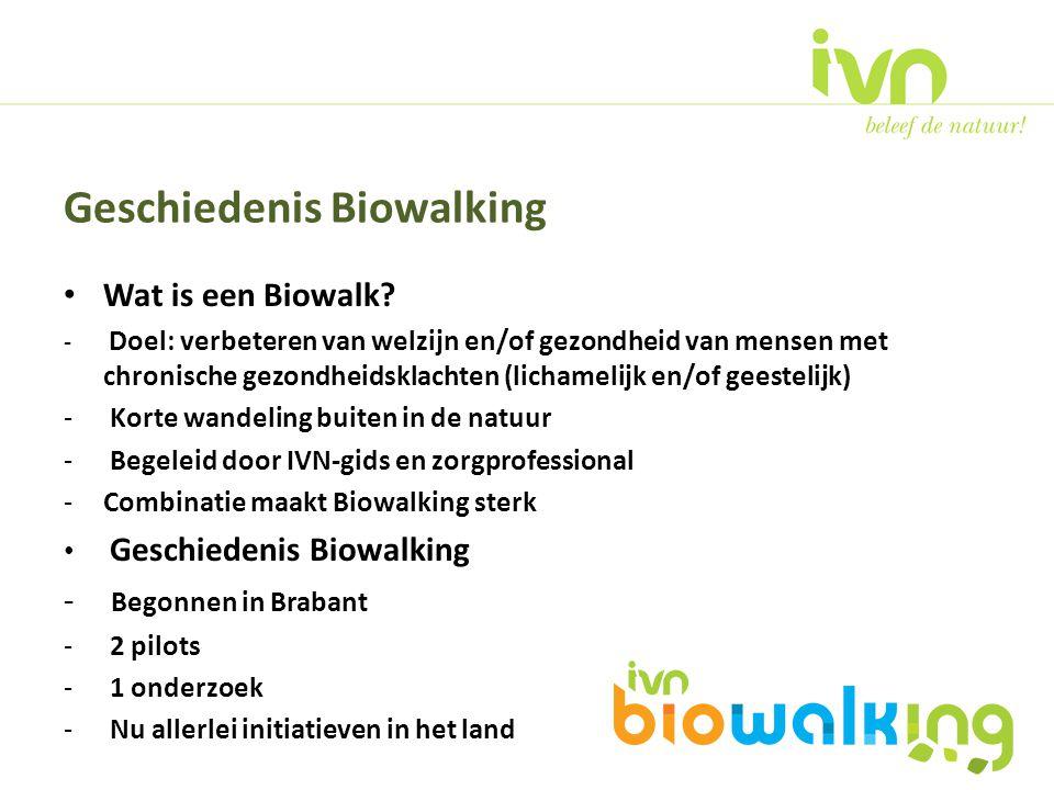 Geschiedenis Biowalking