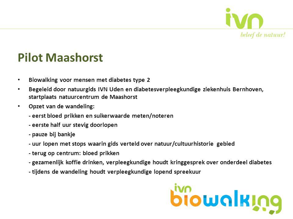 Pilot Maashorst Biowalking voor mensen met diabetes type 2